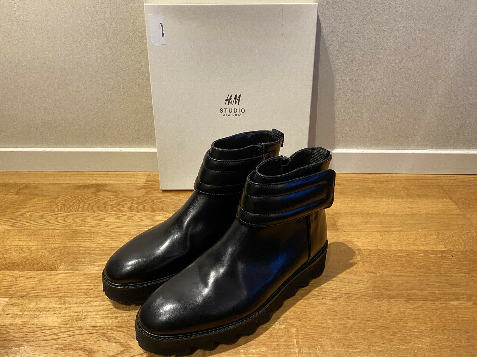H&M Fall-Winter 2016 Studio Collection Winter Thick-Soled Genuine Leather Boots