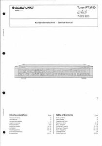 Anleitungen & Schaltbilder Ausdauernd Blaupunkt Original Service Manual Für Pt-3750 Guter Geschmack