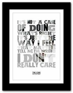 THE CURE - Play For Today song lyrics typography poster ...