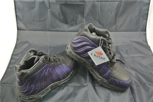 NIKE FOAMPOSITE TRAINERS Taille 10chaussures Violet/noir SPECIAL EDITION RARE