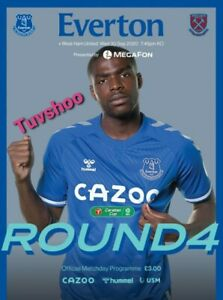 Everton-v-West-Ham-United-CARABAO-CUP-4TH-ROUND-PROGRAMME-30-9-20-IN-STOCK