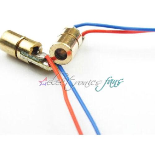 50 stücke 5 V rot laserkopf laserdiode kupferrohr 6 MM 650NM AHS