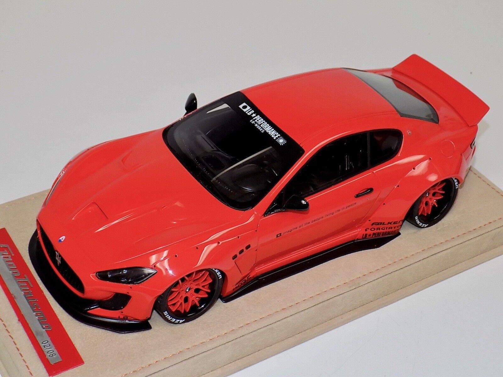 1 18 AB Models Maserati Granturismo Liberty walk rot Wheels Decals Alcantara
