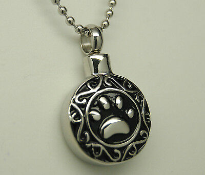 PAW CREMATION JEWELRY PAW URN NECKLACE PET URN PENDANT CAT URN DOG MEMORIAL