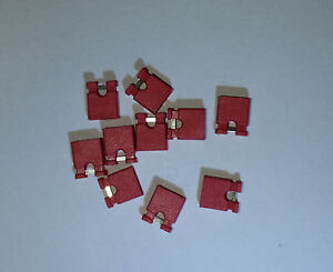 NEW-25x-RED-Mini-Micro-Header-2-54mm-0-1-034-Circuit-Board-Shunts-Short-Jumper-USA