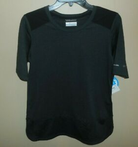Columbia-Place-To-Place-SS-Shirt-Top-Womens-Small-Short-Sleeve-Black-New-UPF-50