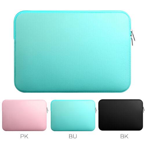 "Laptop Sleeve Case Carrier Pouch Bag Zipper Closure for Macbook Air 11-15.6/"" US"