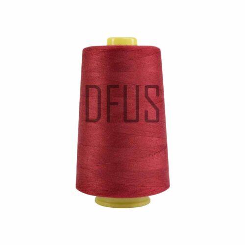 Rojo oscuro 120s Spun Polyester Overlocker Hilo de máquina de coser conos de 5000yd