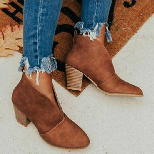 Details about  /Sexy Women/'s Short Ankle Boots Fashion Comfortable Pull On Casual Slim Shoe Plus