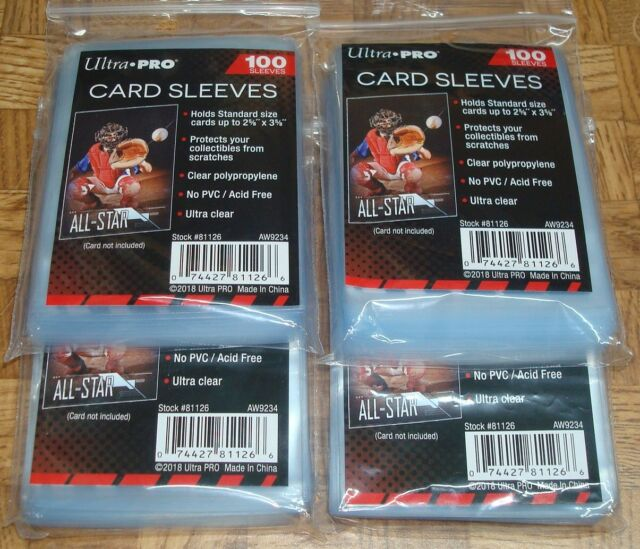 41fd2bdca29 400 Soft Penny Ultra Pro Baseball Card Poly Sleeves Fits 3x4 TOPLOADERS. +.   5.03Brand New. Free Shipping