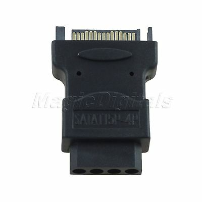 SATA 15Pin Male to IDE 4Pin Power Connector Converter Adapter For SATA HDD