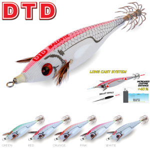 DTD SQUID FISHING LONG CASTING JIG LURE OITA BALLISTIC WHITE KILLER BUKVA 3.0