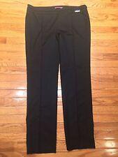 MILA SCHON Women's Black Straight Leg Dress Pants IT Size 50 US Size 14 - XL EUC
