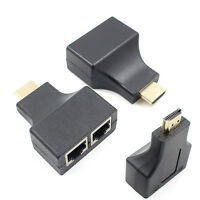 Digital1080p 3D HDMI Over RJ45 CAT5e CAT6 UTP LAN Ethernet Extender Repeater30M