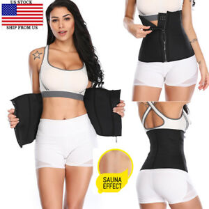 43acd1aced US Women Men Yoga Slim Fit Waist Trainer Belt Wrap Girdle Fat Burner ...