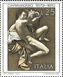 # ITALIA ITALY - 1973 - Caravaggio - Art Painting - Stamp MNH - Italia - # ITALIA ITALY - 1973 - Caravaggio - Art Painting - Stamp MNH - Italia