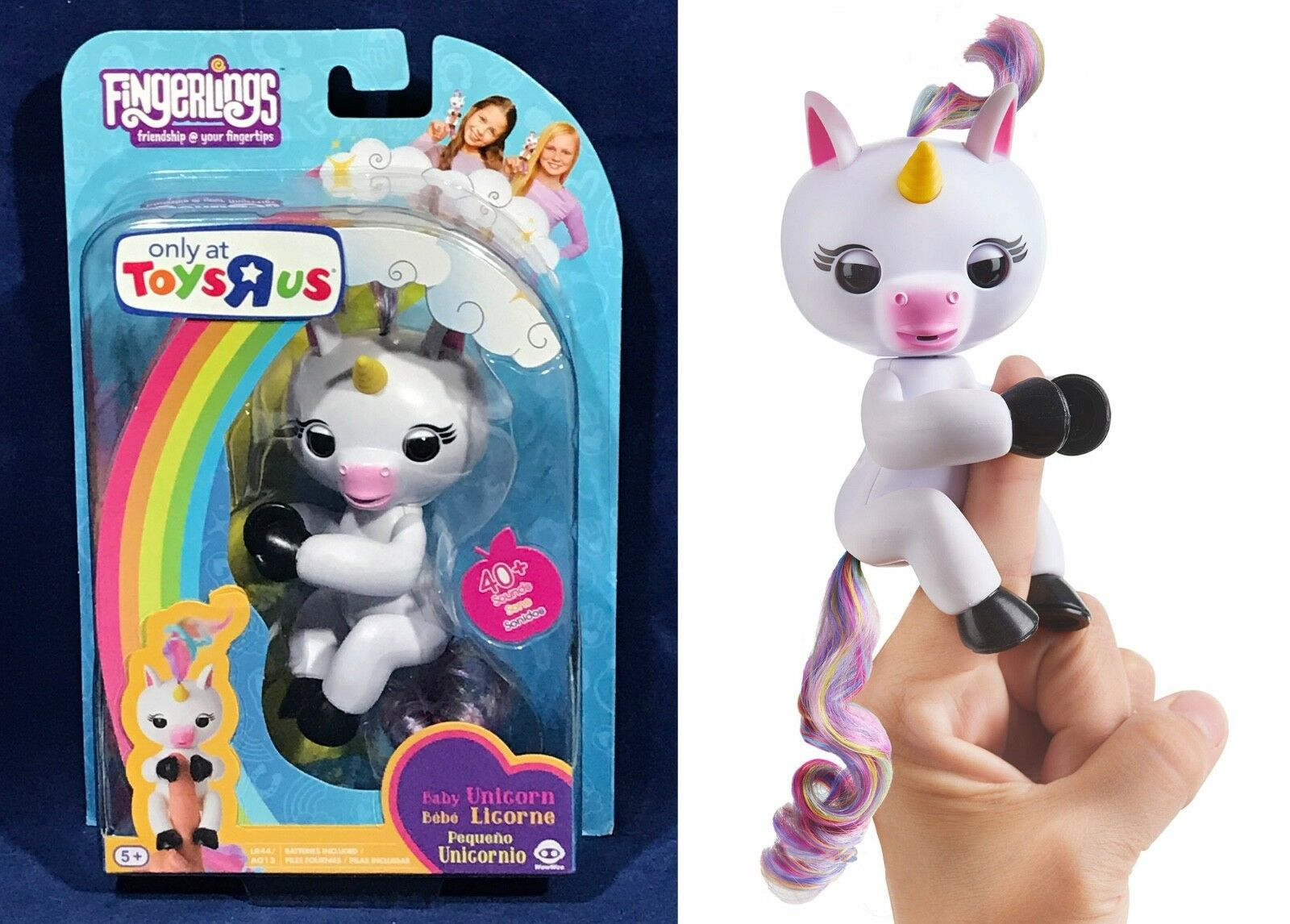 New - GIGI Fingerlings BABY UNICORN - WowWee ToysRUs EXCLUSIVE - Ready to Ship
