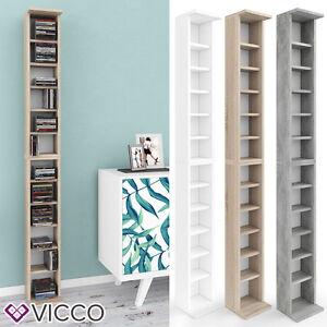 VICCO-CD-Regal-Stand-DVD-Wandregal-Haengeregal-Buecherregal-Bueroregal-Farbauswahl