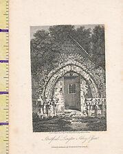 1807 ANTIQUE SMALL GEORGIAN PRINT ~ STRATFORD LANGTON ABBEY ~ ESSEX