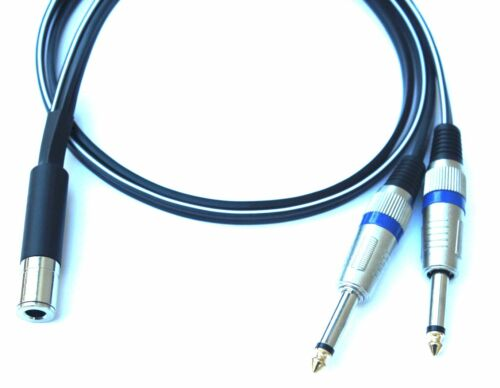 Pro 12 Gauge 1//4 Female TRS Stereo to Dual 1//4 Mono Speaker Y Cable 1ft to 35/'ft