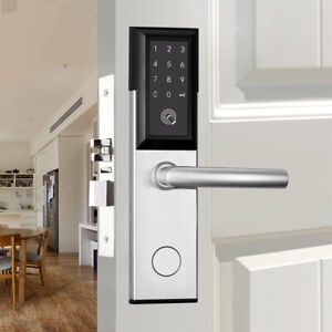Bluetooth Smart Door Lock Touchscreen Password Digital  APP Remote Key Card Lock