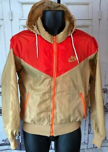 Vintage-70-039-s-80-039-s-Nike-Nylon-Windbreaker-Hooded-Full-Zip-Jacket