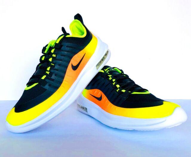 Nike Mens Air Max Axis Premium Running Shoes Black Volt Total Orange Size 10