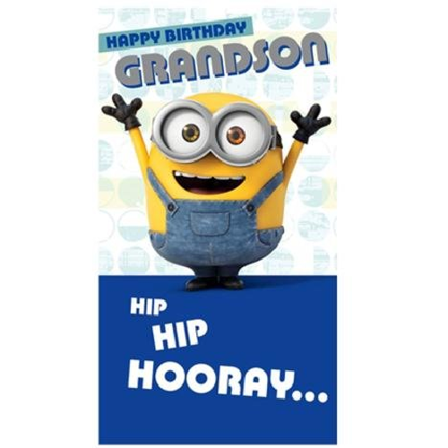 MINIONS MOVIE HAPPY BIRTHDAY GRANDSON CARD NEW GIFT DESPICABLE ME