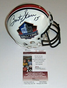 PACKERS Bart Starr signed HOF mini helmet JSA COA AUTO Autographed Green Bay