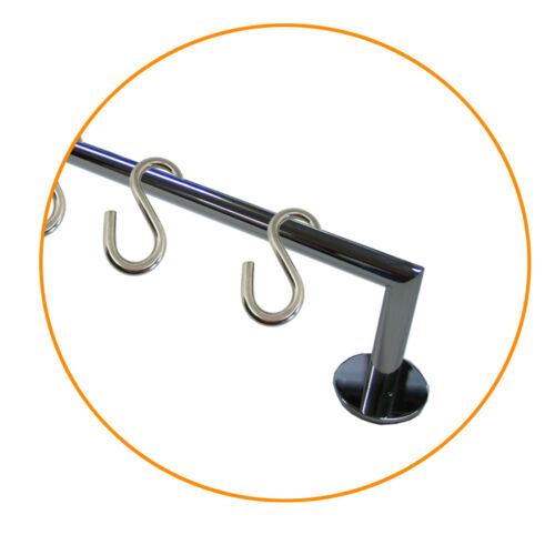 S Hooks Kitchen Appliance Clothes Ironing Hook Tool NEW 2 Piece Stainless Steel V2A