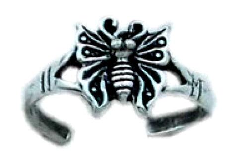 Cute papillon Toe Anneau Argent Sterling 925 réglable meilleur Bijoux USA Vendeur