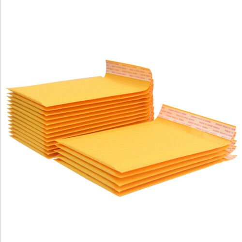 Yellow Kraft Bubble Mailers Padded Envelopes Shipping Bags Self Seal