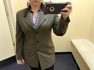 lana Blazer di di colore 10 oliva taglia Burberry da donna vw4wRZq5