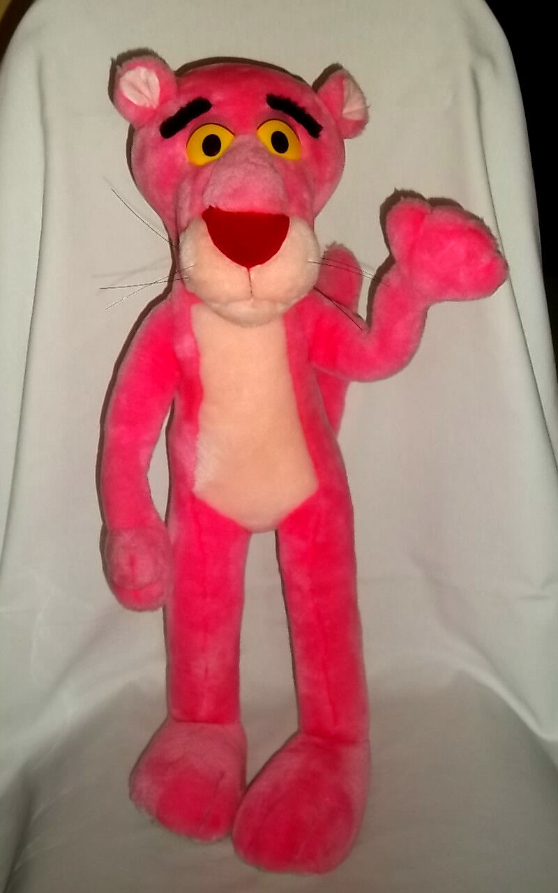 1996 UNITED ARTISTS ARTISTS ARTISTS PICTURE 22  Plush PINK PANTHER Lg BENDABLE Poseable Big Toy 620f9a