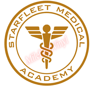 Starfleet Medical Academy Medic Emblem Vinyl Decal Window Sticker Car