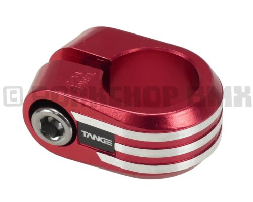 """RED ANODIZED 1/"""" Tange SC-2 reissue old school BMX bicycle seat clamp 25.4mm"""