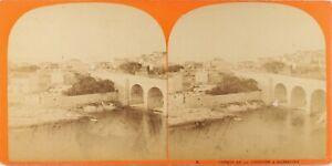 Francia Marsiglia Chemin Da La Corniche, Foto Stereo Vintage Albumina Ca 1865
