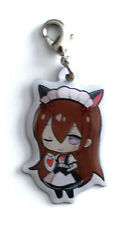 Steins;Gate Makise Kurisu Cosplay Maid Metal Fastener Charm Taito Prize MINT
