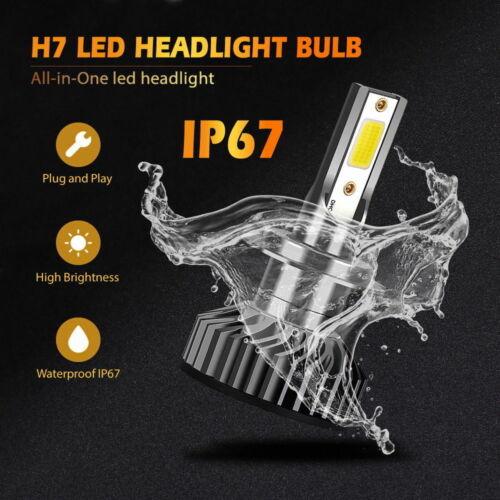 Pair LED Car Headlight Kit Bulbs Lamps Kit H7 For VAUXHALL MERIVA 2003