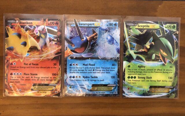 EX Pokemon SWAMPERT EX Card BLACK STAR PROMO Set XY55 Ultra Rare Hoenn Power Tin