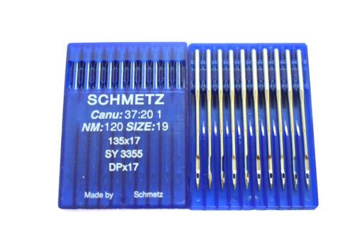 Schmetz industrielle machine à coudre aiguilles-Canu 37:20//SY3355//DPx17//135x17