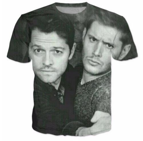 New Fashion Womens//Mens Supernatural Sam Winchester Funny 3D Print T-shirt UK802