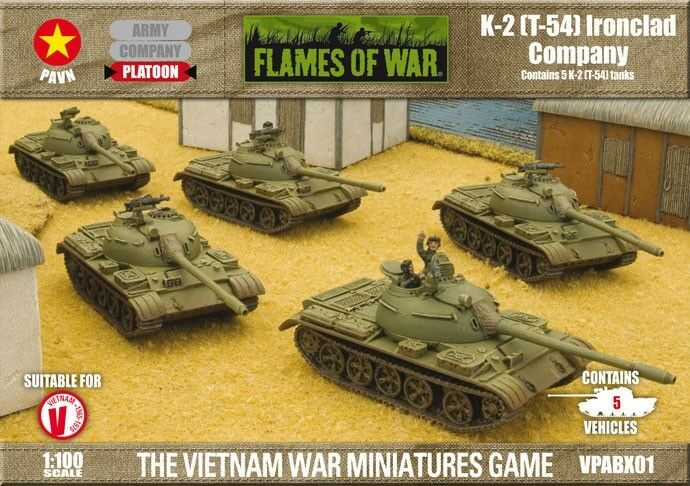 T-54 (K-2) Ironclad Company - Flames of War - PAVN VPABX01 - New