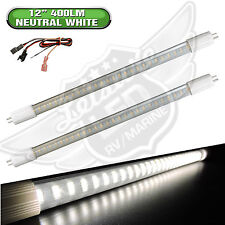 "2 x RV LIGHT BULB T5 12"" fluorescent tube replacement LED 400 LM Neutral White"