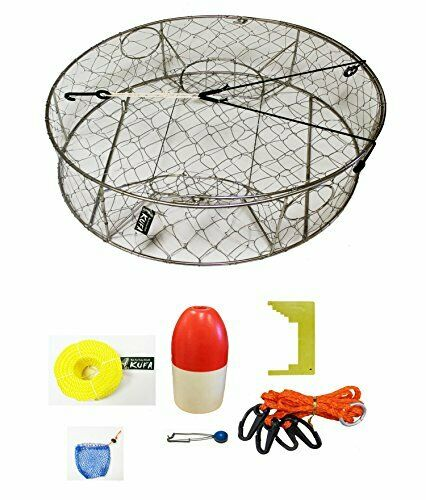 KUFA CT100 Stainless Steel wire Crab Trap with Zinc Anode & accessory kit