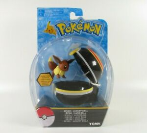 RARE-Tomy-Pokemon-Clip-n-Carry-Poke-Ball-Eevee-Luxury-Ball-Figure-Set-READ-DES