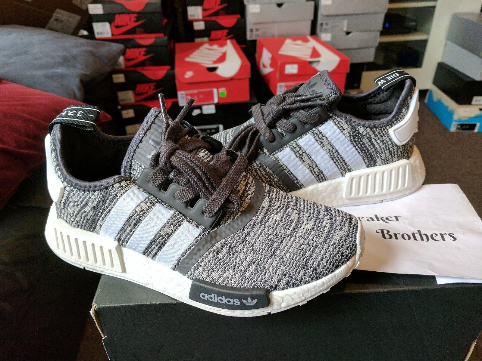 Adidas nmd_r1 bianco w le donne di bianco nmd_r1 solido grigio nero correre pi glitch by3035 d3aa8b