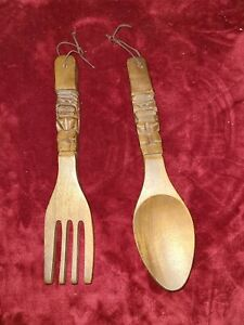 Red Fork And Spoon Wall Decor  from i.ebayimg.com