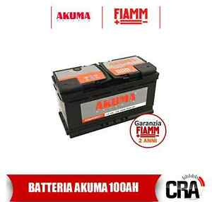 batterie voiture akuma fiamm 100 ah 12v 800a angl original bmw x5 e53 ebay. Black Bedroom Furniture Sets. Home Design Ideas
