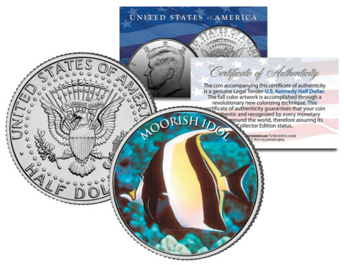 MOORISH IDOL FISH *Fish Series* JFK Kennedy Half Dollar U.S Colorized Coin